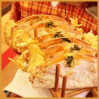 三種のチーズのパリパリトルティーヤ